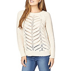 Red Herring - Cream loose cable knit jumper