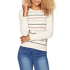 Red Herring - Natural square striped jumper