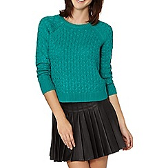 Red Herring - Green crew neck cropped jumper