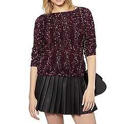 Red Herring - Plum ombre boucle knit jumper