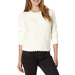 Red Herring - Ivory fleece front jumper