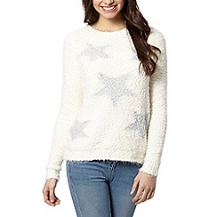 Red Herring - Ivory star knitted jumper