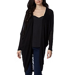 Red Herring - Black longline cardigan