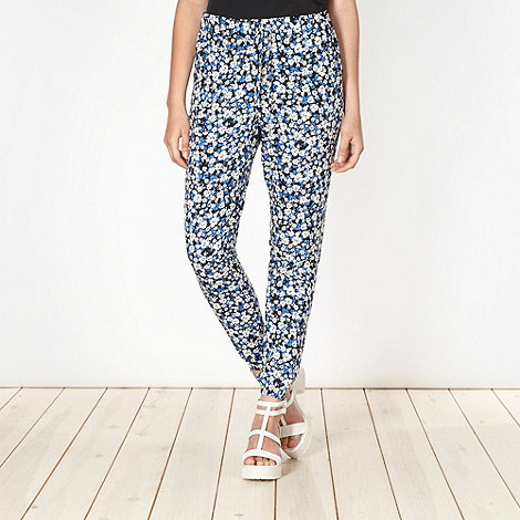 Red Herring - Blue soft floral trousers