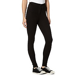 Red Herring - Black buttoned treggings