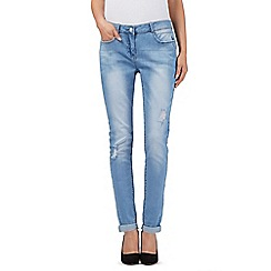Red Herring - Light blue ripped relaxed skinny jeans
