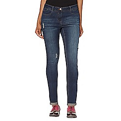 Red Herring - Dark blue 'Chloe' ripped relaxed fit jeans
