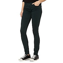 Red Herring - Green high rise 'Holly' super skinny jeans