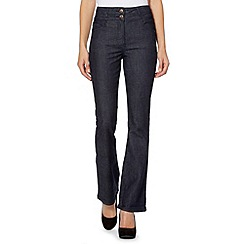 Red Herring - Dark blue high waisted bootcut jeans