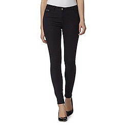 Red Herring - Dark blue 'Holly' sparkle super skinny jeans