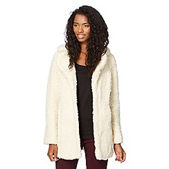 Red Herring - Cream teddy bear fleece coat