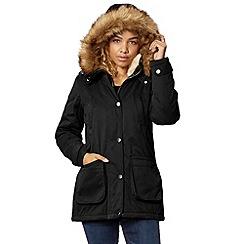 Red Herring - Black short padded parka coat
