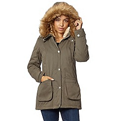 Red Herring - Khaki short padded parka coat