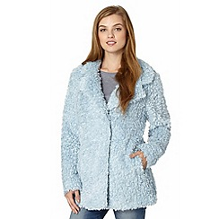 Red Herring - Light blue teddy  faux fur coat
