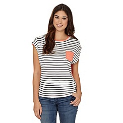 Red Herring - Peach striped pocket top