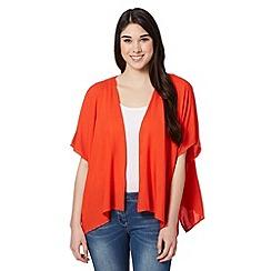 Red Herring - Dark orange butterfly crochet kimono