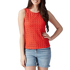 Red Herring - Red crochet front top