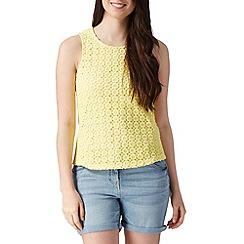 Red Herring - Yellow crochet front top