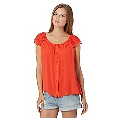 Red Herring - Orange gypsy top