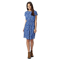 Red Herring - Blue birdcage print dress