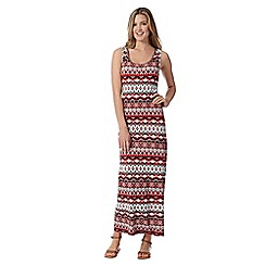 Red Herring - Red aztec print maxi dress