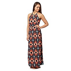 Red Herring - Navy aztec maxi dress