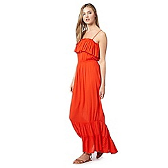 Red Herring - Red frill layer maxi dress