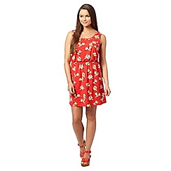 Red Herring - Red parrot print sundress