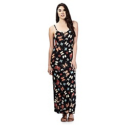 Red Herring - Black butterfly print camisole maxi dress