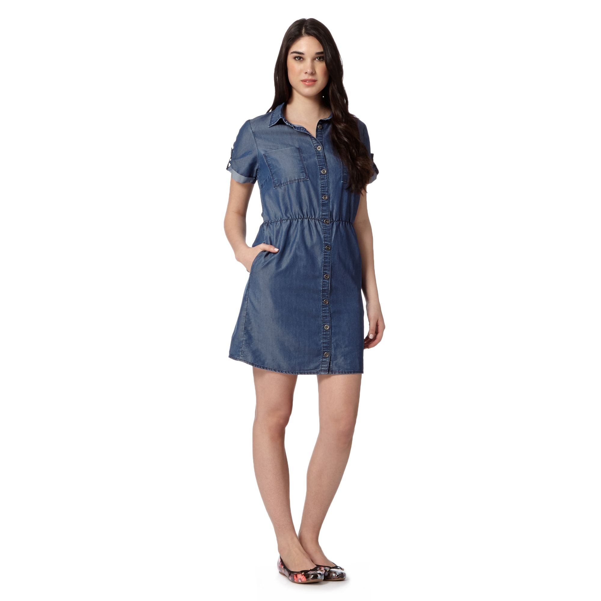31 simple womens chambray shirt dress for Chambray dress