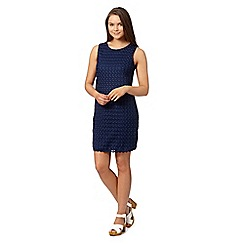 Red Herring - Navy sleeveless crochet shift dress