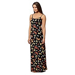 Red Herring - Black butterfly print maxi dress
