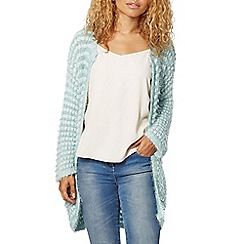 Red Herring - Light green eyelash edge to edge cardigan