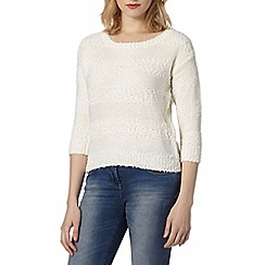 Red Herring - Ivory textured striped jumper