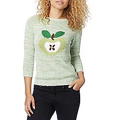 Red Herring - Green pigtail apple jumper