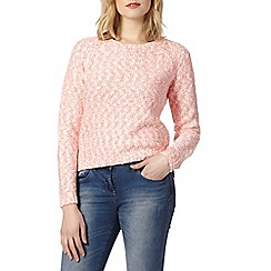 Red Herring - Coral slub twist jumper