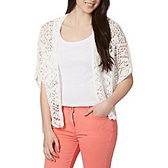 Red Herring - Ivory batwing tape knit cardigan