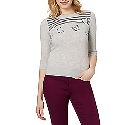 Red Herring - Light grey boucle butterfly jumper
