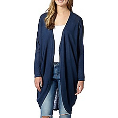 Red Herring - Navy longline drape cardigan