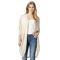 Red Herring - Natural longline drape cardigan