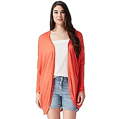 Red Herring - Coral draped drop shoulder cardigan