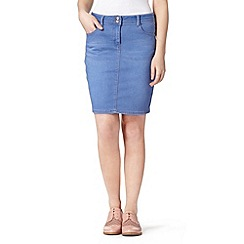 Red Herring - Bright blue denim skirt