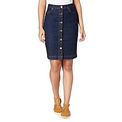 Red Herring - Dark blue denim button skirt