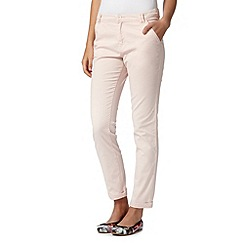 Red Herring - Light pink ankle grazer chinos
