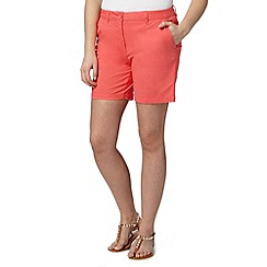 Red Herring - Bright coral chino shorts