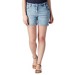 Red Herring - Light blue denim boyfriend shorts