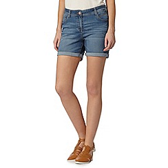 Red Herring - Dark blue boyfriend denim shorts