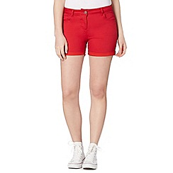 Red Herring - Red twill shorts