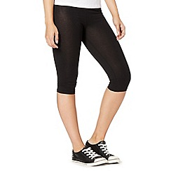 Red Herring - Black cropped leggings