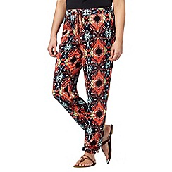 Red Herring - Orange aztec cuffed trousers